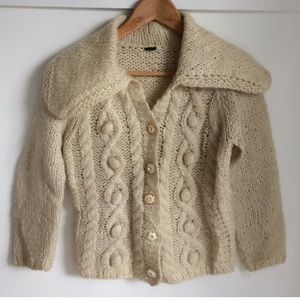 FREE PEOPLE | Vintage Mohair Knit Cardigan Size XS